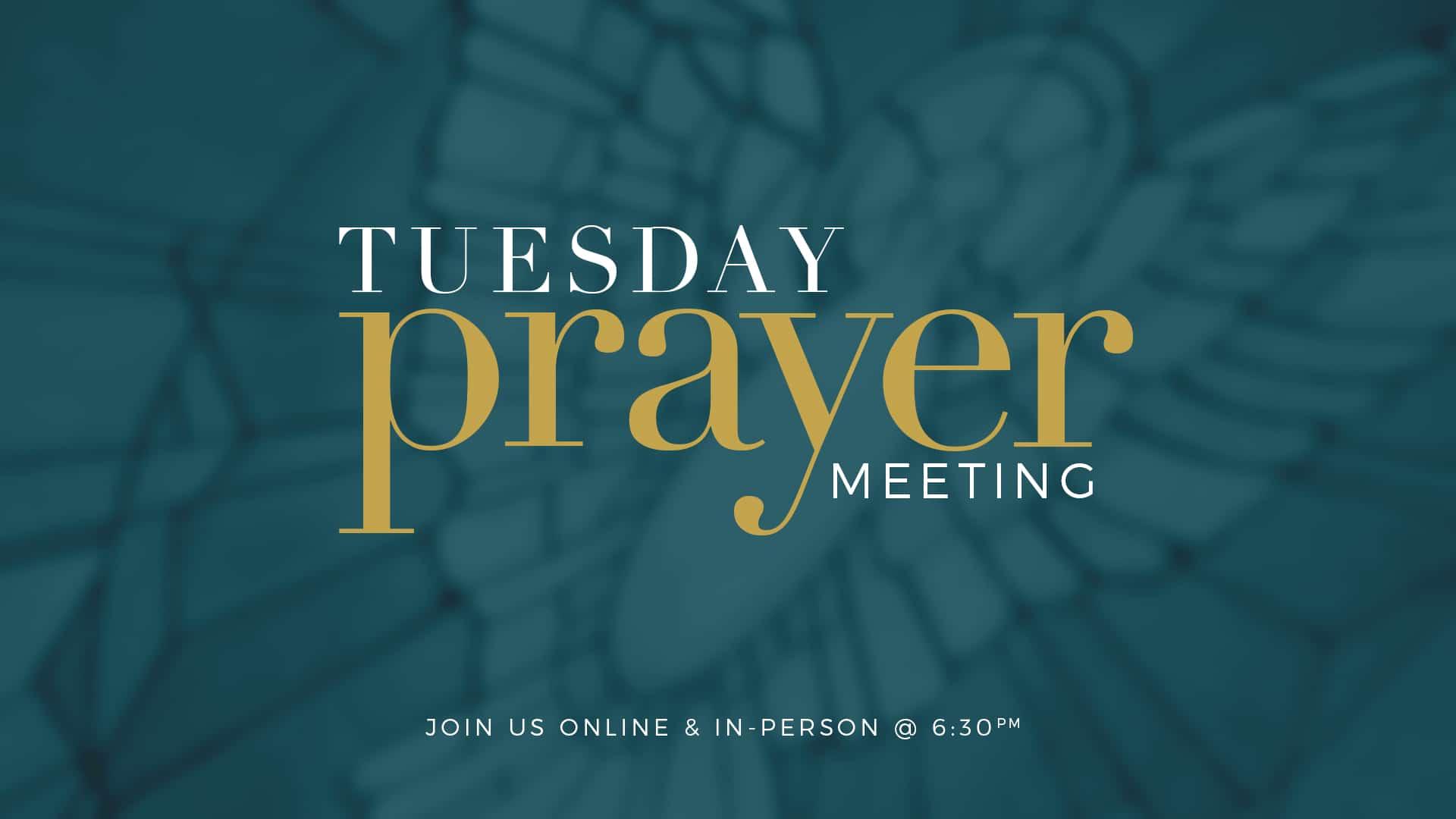 Brooklyn Tabernacle Tuesday Prayer Meeting Online banner